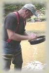 Bill Panning for gold